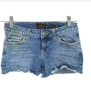 Aeropostale Jean Cut Off Shorty Shorts Destroyed